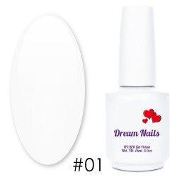 LAKIER HYBRYDOWY DREAM NAILS 15ML nr 1 BIEL